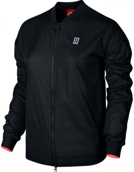 Teniso bluzonas moterims Nike Court Bomber EOS Jacket - black/hot punch/white