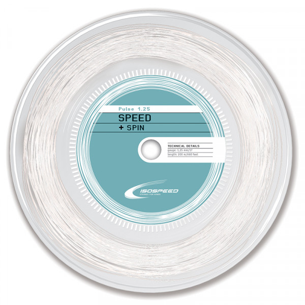 Naciąg tenisowy Iso-Speed Pulse (200 m) - white