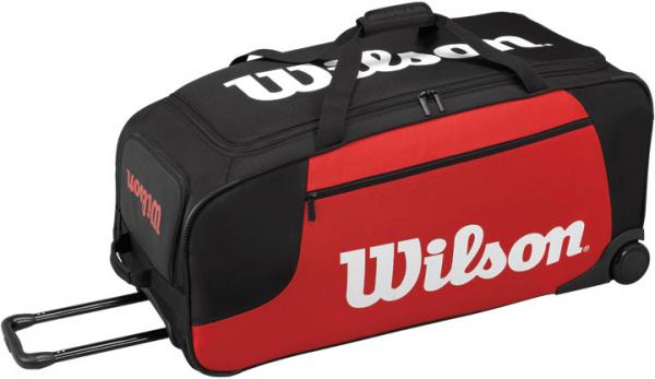 Wilson Wheeled Travel Duffel - black/red