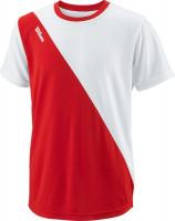 Koszulka chłopięca Wilson Team II Angle Crew B - team red