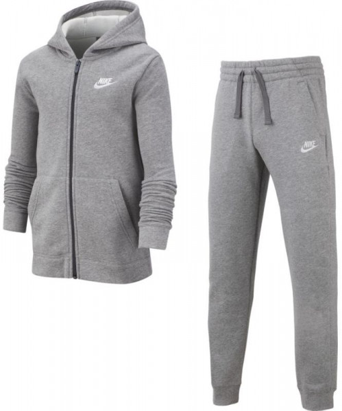 Dres młodzieżowy Nike Boys NSW Track Suit BF Core - carbon heather/dark grey/white