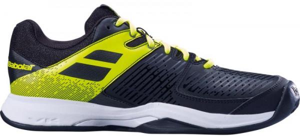 Męskie buty tenisowe Babolat Pulsion Clay Men - black/fluo aero