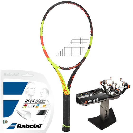 Babolat Pure Aero Decima Roland Garros + naciąg + usługa serwisowa