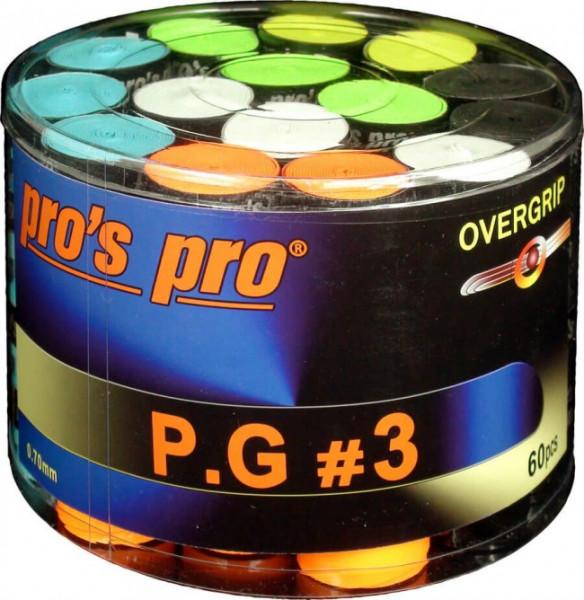 Tenisa overgripu Pro's Pro P.G. 3 60P - color