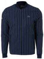 Męska bluza tenisowa Lacoste Men's SPORT x Novak Djokovic Striped Teddy Jacket - navy bleu/white