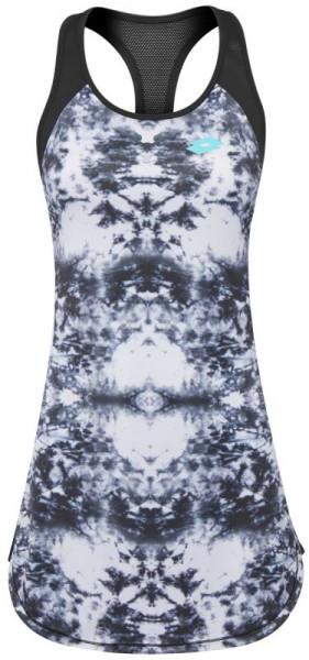 Ženska teniska haljina Lotto Batik Printed Dress - white/black