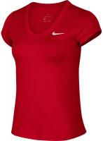 Damski top tenisowy Nike Court Dry Top SS W - gym red/white