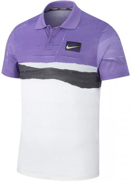 Męskie polo tenisowe Nike Court Advantage Polo NY - psychic purple/psychic purple