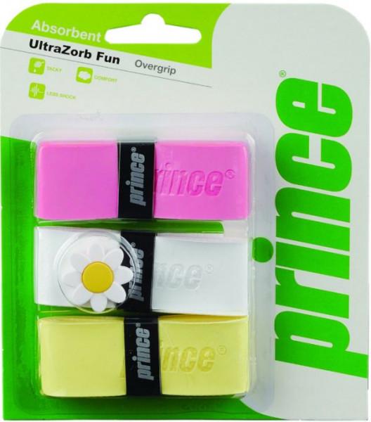 Owijki tenisowe Prince UltraZorb Fun 3P - pink/white/yellow