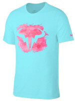 Teniso marškinėliai vyrams Nike Court M Rafa Tee DB - polarized blue