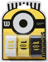 Viršutinės koto apvijos Wilson Minions Overgrip 3P - white/yellow/black