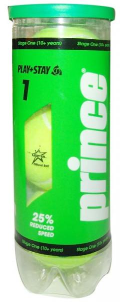 Juniorskie piłki tenisowe Prince Play&Stay Stage 1 - (3 szt.)