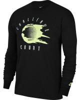 Męski T-Shirt tenisowy Nike Court Tee LS Challenge - black