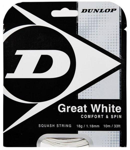 Žice za skvoš Dunlop Great White (10 m) - white