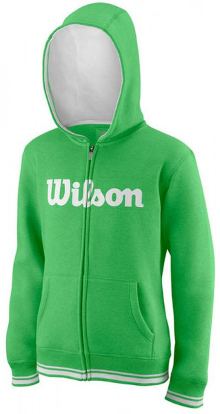 Bluza chłopięca Wilson Y Team Script FZ Hoody - andean toucan