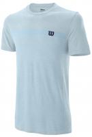 Męski T-Shirt Wilson M Competition Seamless Crew - glacier blue
