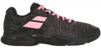 Damskie buty tenisowe Babolat Propulse Blast All Court Women - black/geranium pink