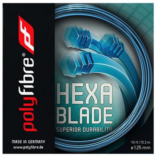 Naciąg tenisowy Polyfibre Hexablade (12,2 m) - blue