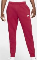 Męskie spodnie tenisowe Nike Sportswear Club Fleece M - pomegranate/pomegranate/white