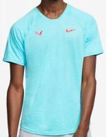 Męski T-Shirt Nike Court Rafa Aeroreact Top SS Slam - polarized blue/laser crimson