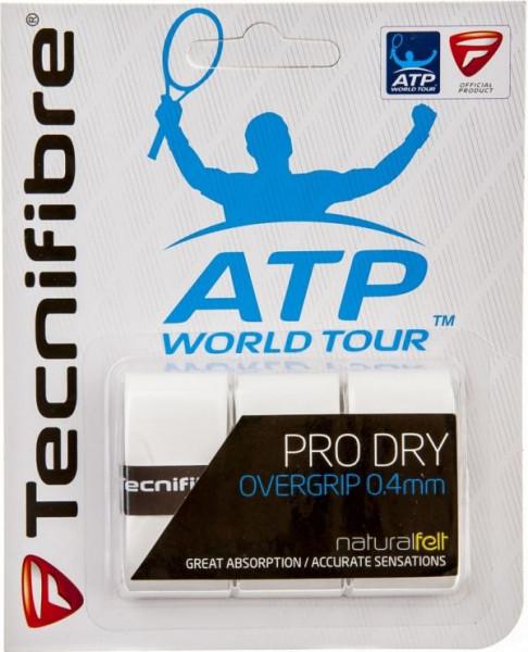 Owijki tenisowe Tecnifibre Pro Dry ATP (3 szt.) - white