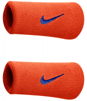 Nike Swoosh Double-Wide Wristbands - team orange/college navy