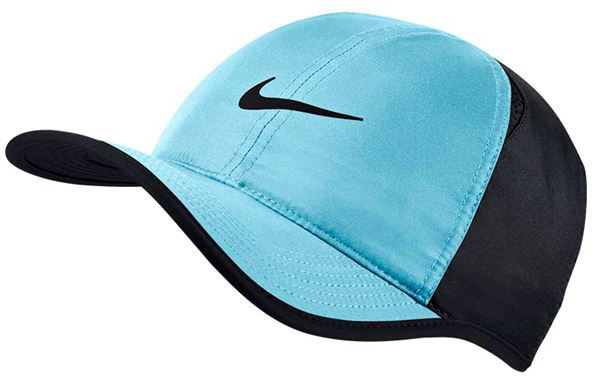 Nike U Aerobill Feather Light Cap - vivid sky/black/black/black