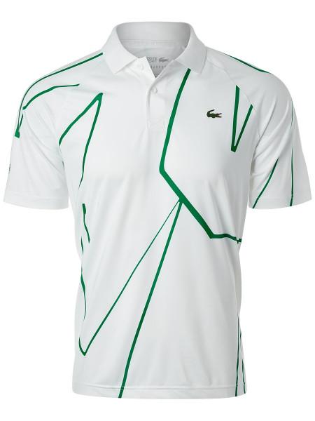 Męskie polo tenisowe Lacoste Novak Djokovic Melbourne Polo - white/green