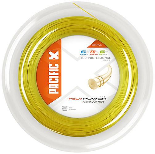 Teniska žica Pacific Poly Power (200 m) - yellow