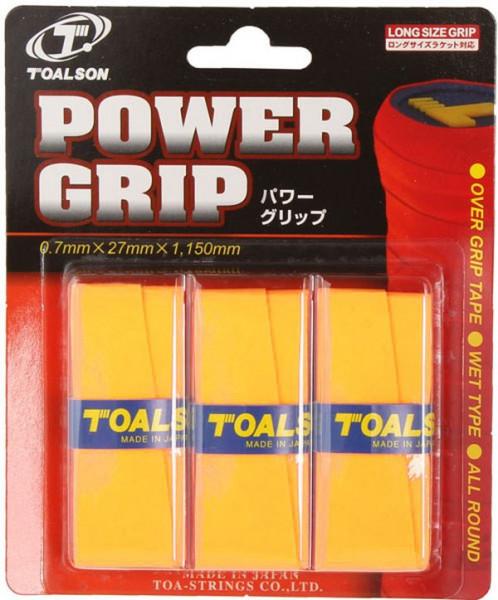 Owijki tenisowe Toalson Power Grip (3 szt.) - gold