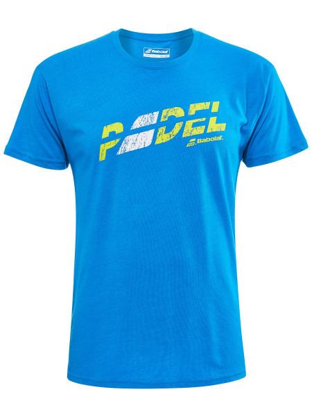 Męski T-Shirt Babolat Exercise Flag Message Tee Men - blue aster heather
