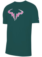 Męski T-Shirt Nike Court Rafa Tee - dark atomic teal/cactus flower/white