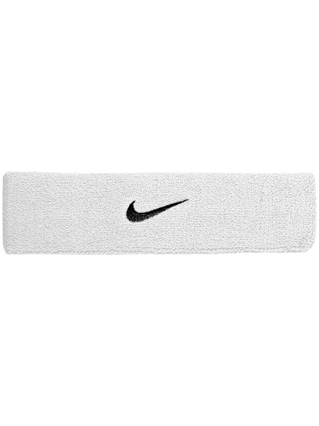 Galvas lente Nike Swoosh Headband - white/black