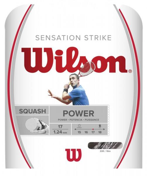 Skvoša stīgas Wilson Sensation Strike (10 m) - white/black