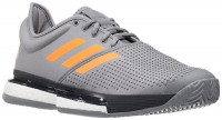 Teniso batai vyrams Adidas SoleCourt Boost M - grey heather/flame orange/carbon