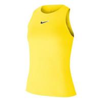 Damski top tenisowy Nike Court Tank Melbourne NT - opti yellow/off noir