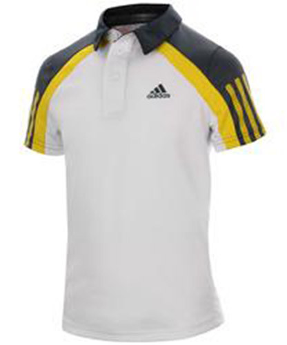 Adidas Barricade Traditional Polo - white/vivid yellow