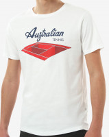Australian Jersey T-Shirt with Print - bianco