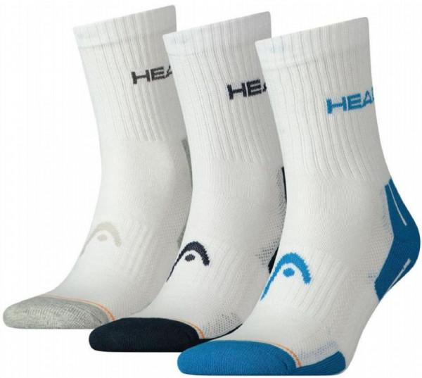 Teniso kojinės Head Performance Short Crew - 3 pary/white/blue