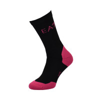 Skarpety tenisowe EA7 Knitted Sock 1P - black/pink fluo