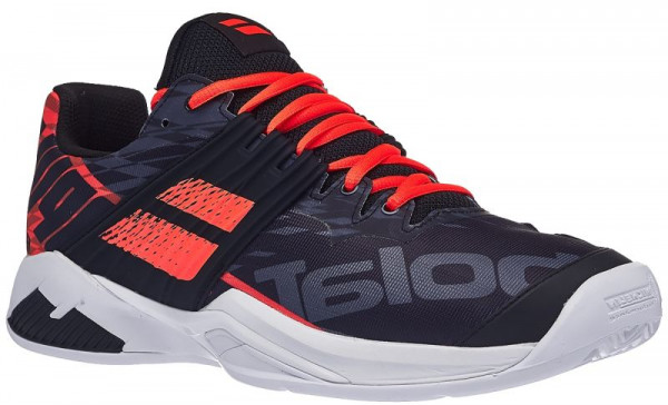 Męskie buty tenisowe Babolat Propulse Fury Clay Men - black/fluo strike