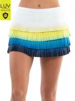 Damska spódniczka tenisowa Lucky in Love Luv Prints Sea Breeze Ombre Pleated Skirt Women - breeze