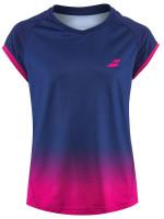 Koszulka dziewczęca Babolat Compete Cap Sleeve Top - estate blue/vacious red
