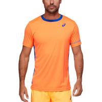 Teniso marškinėliai vyrams Asics Padel M SS Tee - orange pop/monaco blue