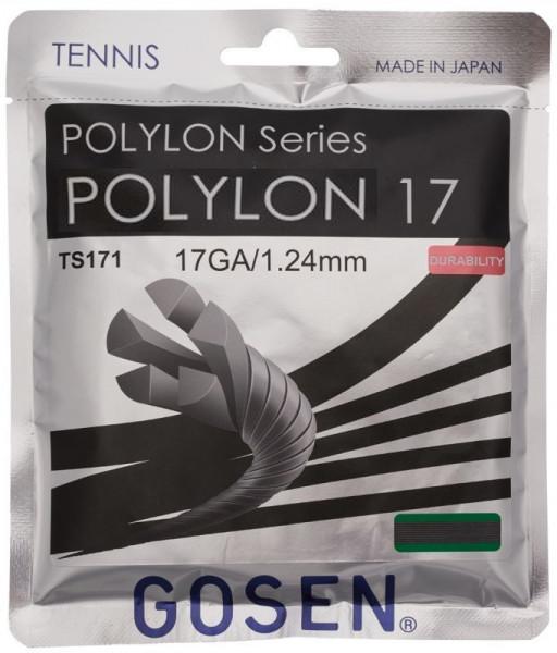 Tenisa stīgas Gosen Polylon 17 (12.2 m) - black