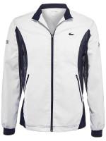 Męska bluza tenisowa Lacoste Men's SPORT Novak Djokovic Full-Zip Jacket - white/navy blue