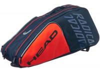 Teniso krepšys Head Radical 9R Supercombi - orange/navy
