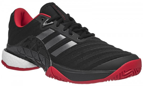 1ea8deb99608d Męskie buty tenisowe Adidas Barricade 2018 Boost - black night metallic  scarlet