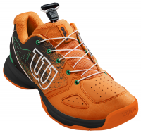 Juniorskie buty tenisowe Wilson Kaos Junior QL - orange/black/amazon