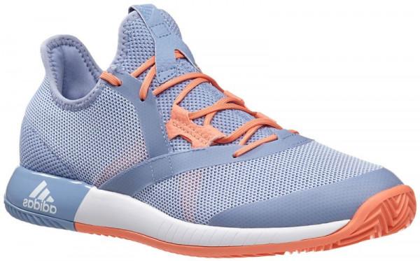 38ef2d3c1 Damskie buty tenisowe Adidas Adizero Defiant Bounce - chalk blue white chalk  coral